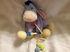 NEW DISNEY EEYORE  Rattle & Roll TOY Infant / Baby Pull Plush