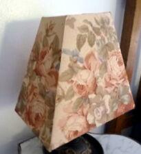 NEW Custom Made Designer Fabric LAMP SHADE FLORAL ROSES SHABBY CHIC