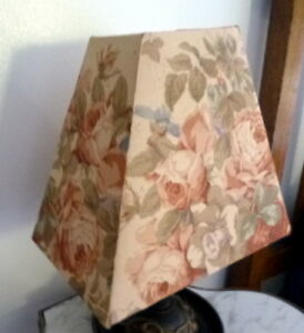 NEW Custom Made Designer Fabric LAMP SHADE FLORAL ROSES SHABBY CHIC
