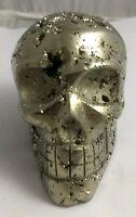 Gorgeous pyrite crystal skull, Peru, 496.5 grams!!!  AAA fools gold!!