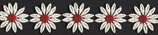 "2"" IVORY RED DAISY FLOWER VENICE VENISE LACE APPLIQUE FABRIC TRIM 5 YARDS"