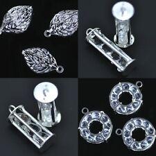 Ciondoli di bigiotteria d'argento in cristallo di cristallo