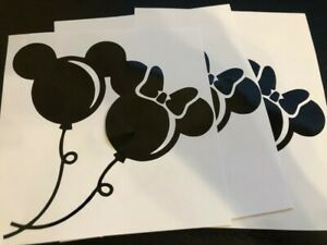 x5 mickey and minnie balloon ears disney vinyl decal sticker laptop car phone
