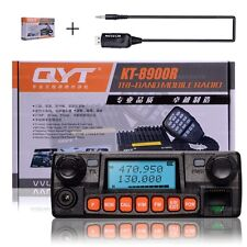 QYT KT-8900RE Quad Band UHF VHF 25W Car Mobile Radio Transceiver Funkgerät Kable