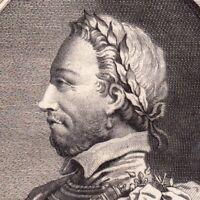 Portrait XVIIIe Henri III  Roi France Roi Pologne Duc de Lituanie Henryk Walezy