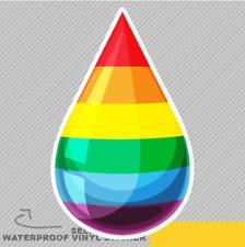 Gota de líquido con Colores Arco Iris Vinilo Pegatina Calcomanía ventana de coche furgoneta bicicleta 2540