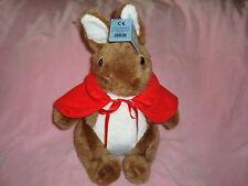 "Peter Rabbit Mother in red cape Plush 15"" Yoshitoku Co Ltd"
