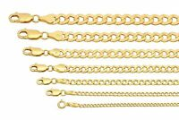 """BRAND NEW 10k Yellow Gold 2mm-7.5mm Cuban Curb Link Chain Necklace 16""""-30"""""""