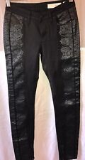 New Sass And Bide Jeans With Print Leather Black Size 25