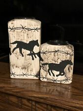 Collectible Horsehair Candle Holders