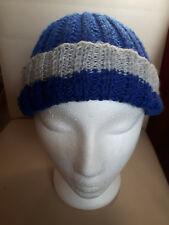 hand made hat,blue,grey,polyester,m.