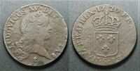 1720 S French Colonial copper sol, John Law Mississippi Bubble period