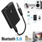 Bluetooth 5.0 Mini Speaker TV Transmitter Receiver Wireless Audio 3.5mm Adapter