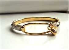 Signed Madani Firenze Italy Handcrafted Goldtone Snakeskin Print Bangle Bracelet