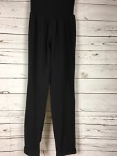 Jessica Simpson Maternity Womens Black Ribbed Cuffed Casual Lounge Pants XL