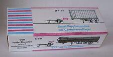 Repro Box Permot Skoda -Container-Lastzug/SKA mit Kesselauflieger