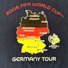 Graphic Tshirt Sm 2006 FIFA World Cup Germany Tour Navy Blue Mens Unisex Used T9