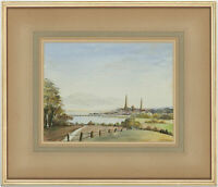 M. McElroy - Signed and Framed Mid 20th Century Watercolour, Coastal Landscape