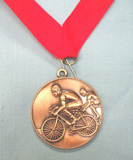 BMX  racing bronze medal red neck ribbon trophy