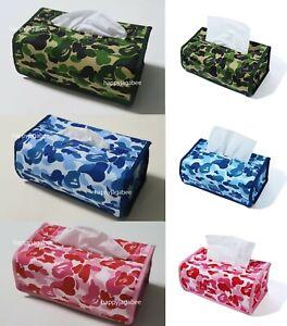A BATHING APE Goods Men's ABC CAMO TISSUE BOX COVER 3colors Japan New