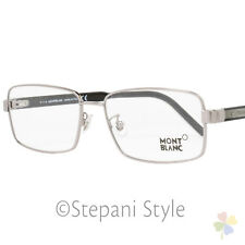 Montblanc Rectangular Eyeglasses MB622F 014 Size: 58mm Ruthenium/Black 622