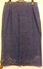 Unbranded Denim Straight, Pencil Plus Size Skirts for Women
