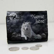 Personalised White Mystical Wolf Fantasy Wallet Dad Grandad Mens Lads Gift ST732