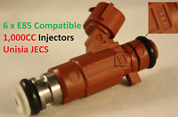 6 1000CC Fuel Injectors for NISSAN NISMO SKYLINE R34 RB25DET NEO JECS ER34 E85