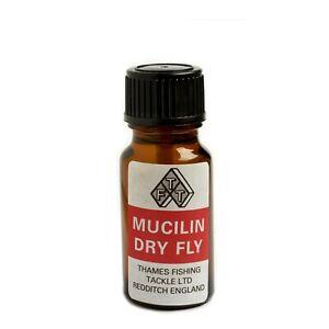 Fly Fishing: Liquid Mucilin Dry Fly Floatant Botlle & Brush Set (RED)