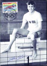 Swimmer Jani Sievinen World Champion 1992 Mint Maxi FDC Signed