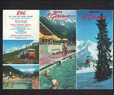 SAINT-GERVAIS / LE FAYET (74) Tract Dépliant Touristique / TRAIN HOTELS en 1970