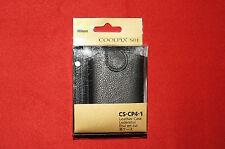 Genuine Nikon CS-CP4-1 Black Leather Case for Nikon Coolpix S01 Brand New