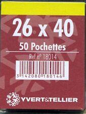 50 pochettes simple soudure fond noir 26X40 mm