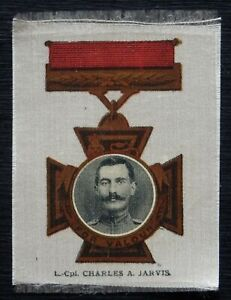 LANCE CORPORAL CHARLES A JARVIS Victoria Cross Heroes I 1915 SILK