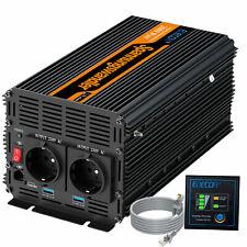 Power Inverter 2000W 12V to 240V 4000W Converter dc to ac soft start 2.1A USB
