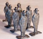 Vintage Set of 12 Die Cast Metal Civil War Soldiers Marching Flag Drum Bugle