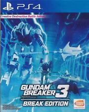 Gundam Breaker 3 BREAK EDITION English PS4 Physical Region Free Ship with Track