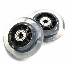 MAXI MICRO SCOOTER - 2 BLACK REAR / BACK WHEELS WITH ABEC-7 608zz BEARINGS 80mm