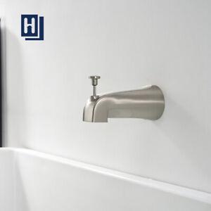 Tub Diverter Spout Bathroom Shower Bathtub Faucet Wall Mounted Brushed Nickel