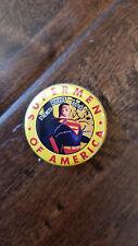 2017 Sdcc Comic con Exclusivo Alex Ross Superhombres de América Superman Botón