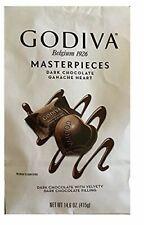 Godiva Masterpieces Dark Chocolate Hearts 14.6 OZ Each Pack