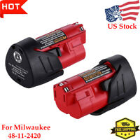 2X Replace For Milwaukee 48-11-2420 M12 Lithium-ion Compact Battery Pack 2.5Ah