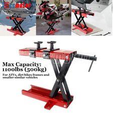 New Listing1100 Lb Red Motorcycle Scissor Center Lift Jack Hoist Stand For Dirt Bikes Atv