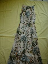 NWT H&M Exclusive Collection Bird Flowers Floral Forest Print Maxi Midi Dress 0