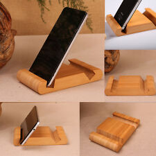 Cool Bamboo Lazy Cell Phone Stand For Desk Universal Tablet Mount Desktop Holder