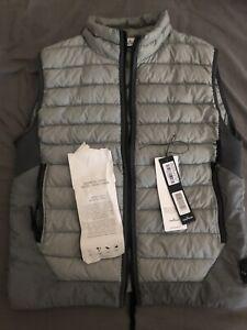 Stone Island Gilet Puffer Jacket Body Warmer Medium Grey Zip Badge