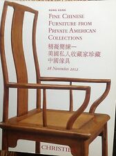 CHRISTIE'S Fine Chinese Furniture Private American Coll. 28 Nov. 2012 Hong Kong