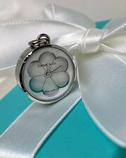 Tiffany & Co. Swiss Made Stainless Steel White Blossom Flower Daisy Watch Charm