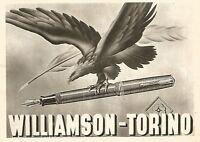 W9358 Penne stilografiche WILLIAMSON - Pubblicità del 1939 - Old advertising