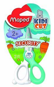 "Maped 037800 ""Kidicut"" 12 cm 4.5-Inch Scissors - Green/White Handles Single Pack"